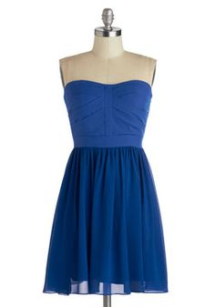 Dance Floor Dazzle Dress. Along with your graceful steps and effortless twirls, this royal blue, strapless dress will help you light up the ballroom with radiant charm! #blue #modcloth