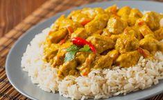 ▷ Pollo al curry | CONPOLLO.ME | Todas las recetas de cocina con pollo Huevos Fritos, Grains, Good Food, Rice, Cooking Recipes, Albondigas, Garam Masala, Gastronomia, Holiday