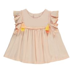 Pompom Ruffle Blouse Chloé Baby- A large selection of Fashion on Smallable, the Family Concept Store - More than 600 brands.