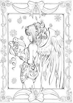 Coloriage Adulte Fées Anges Elfes