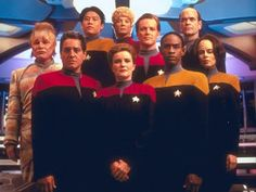 Crew of Voyager in uniform