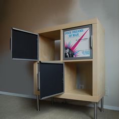Rekordit Frames 2 Pack - vinyl covers as doors  by Rekordit  < Return to Rekordit  Like this product?  ADD TO FAVORITES  30 0  $85fab  $98 retail price  QuantityAdd to Cart  Rekordits are frames specifically designed to fit the Expedit shelving system by Ikea. Perfect for shameless music nerds, they allow you to decorate affordably while showing off your favorite LPs. Hide messy shelves in style! Organize your record collection by genre with carefully chosen covers!