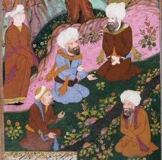 Bildschirmfoto: Harvard Mirador Viewer Central Asia, 16th Century, Iran, Westerns, Detail, School, Painting, Style, Persian