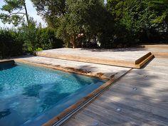 Terrasse mobile pour abriter votre piscine avec charme et élégance ! #Terrasse #mobile #TerrasseMobile