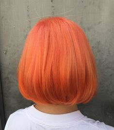 Peach hair. Used pulp riot for this orange peach hair