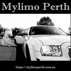 Wedding Cars Perth featuring the Chrysler 300C White Wedding Limousine. Mylimo Perth offering luxury chauffeured wedding limo services for brides, grooms and bridal parties.