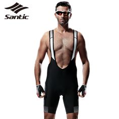 Santic Mens Pro Cycling Bib Shorts Tour De France MTB Downhill Shorts Quick Dry Breathable Mountain Road Bike Bicycle Shorts