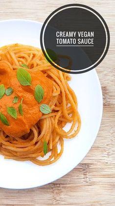 A 15 minute tomato and cashew based sauce perfect for pasta, lasagne and Tomato Pasta Sauce, Pasta Sauce Recipes, Spaghetti, Posts, Vegan, Dishes, Ethnic Recipes, Blog, Lasagna