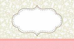 Poá Rosa e Cinza Floral Vintage - Kit Completo com molduras para convites, rótulos para guloseimas, lembrancinhas e imagens!