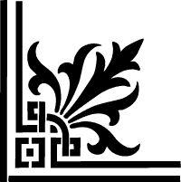 Classical corner stencil in a unique and original design.