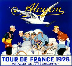 Alcyon TDF 1926 Vintage French Bicycle Poster