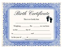 Charming Certificate Printable Baby Birth