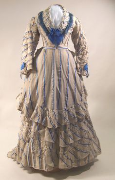 Afternoon dress, 1873
