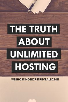 "The Truth About Unlimited Hosting - We often see many web hosting companies offer ""unlimited hosting"", but do they really offer that? In this post, you'll learn what the term ""Unlimited Hosting"" really means. Find out the truth behind it here: http://www.webhostingsecretrevealed.net/the-truth-about-unlimited-hosting/?utm_source=pinterest&utm_medium=pin&utm_campaign=twelveskip #blogging #webhosting"