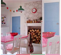 Inspiration for my kitchen table, if only I were brave enough to paint the vintage oak...