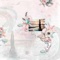 The Beach takes my heart to a place of Serenity and Peace.  Serenity Beach is a pastel beach and ocean collection perfect for Spring, Summer, Nature, Outdoor and everyday layouts or any other projects too!  Serenity Beach Digital Scrapbooking Collection by Lara's Digi World