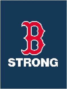 Boston B Strong Graph Chart Pattern  Afghan by MadeEspecially, $3.75
