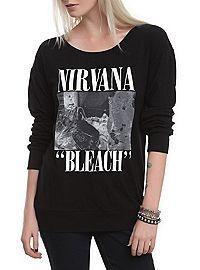 HOTTOPIC.COM - Nirvana Bleach Long-Sleeved Girls T-Shirt sz med