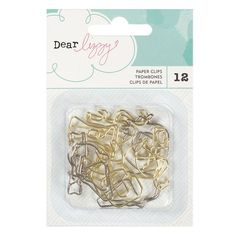 Embellishments - Dear Lizzy, Happy Place, Shaped Paperclips