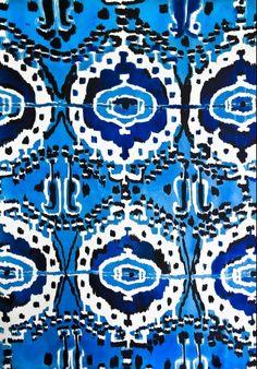 Blue ikat - Luli Sanchez