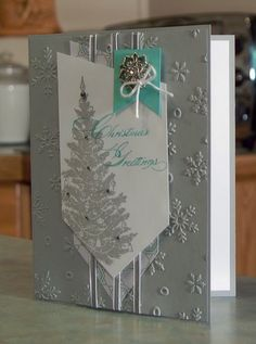 Embossed Christmas Card Stampin' Up Special by WhimsyArtCards
