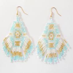Boucles d'oreilles perle. Style #azteque www.milena-moda.com