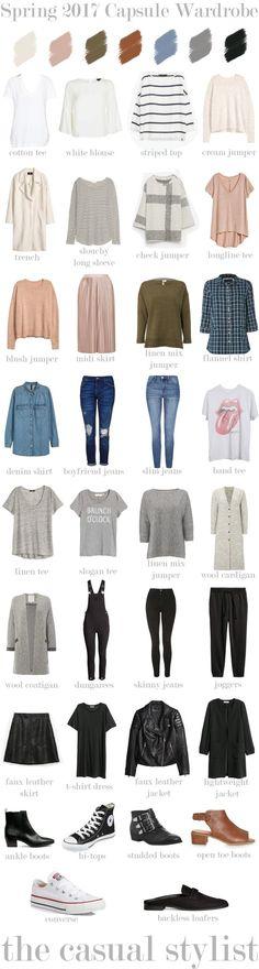SPRING 2017 CAPSULE #wardrobebasics2017