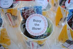 Candy concessions for the 18 children who will be watching   a movie under the stars this weekend...              and a little take home...