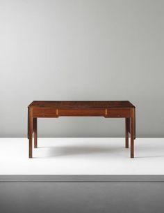 PHILLIPS : UK050414, Kaare Klint, Rare drop-leaf desk, model no. 4155, commissioned for a private apartment, Denmark