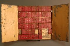 Today's Throwback Thursday object takes us far back, to the nineteenth century, in fact! It is a set of braille tiles from France, developed to teach Louis Braille's then new system of tactile dots. Photo Caption: Flat tin box holding six rows of red wood braille tiles http://qoo.ly/fenzn #TBT #Braille #APHForTheBlind