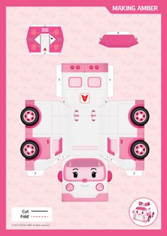 Activities - Robocar POLI Paper Crafts For Kids, Diy Paper, Projects For Kids, Diy And Crafts, 3rd Birthday Parties, Diy Birthday, Robocar Poli, Paper Toys, Diy Toys