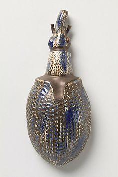 Silvered Beetle By Thomas Eyck #anthropologie