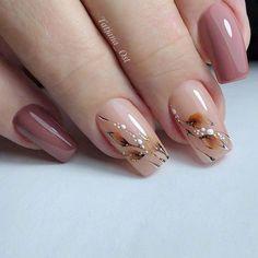 Nail Art Designs, Short Nail Designs, Acrylic Nail Designs, Acrylic Nails, Autumn Nails, Fall Nail Art, Elegant Nails, Stylish Nails, Cute Nails
