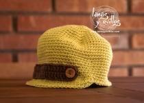 Crochet baby hat pattern, patron gratis gorro