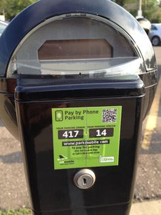 Parkmobile meter triggered by QR Code!