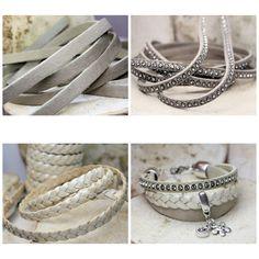 Combinaties van leren armband die ik kan maken. Diy Jewelry, Bracelets, Om, Crafts, Handmade, Leather, Bangle Bracelets, Jewerly, Manualidades