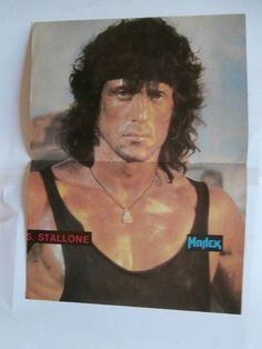 S Stallone Rambo INXS Poster from Greek Magazines clippings 1970s 1990s | eBay