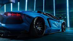 Car wallpaper, sports car, supercar, lamborghini aventador, blue car • Wallpaper For You HD Wallpaper For Desktop & Mobile