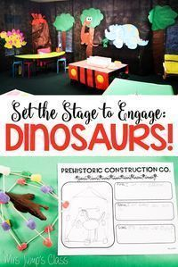 Flip your classroom into a Dinosaurs learning zone that your little paleontologists will LOVE! Check out how Deanna Jump transformed her classroom and see all of her dinosaur unit lessons and printables. Great for Kindergarten and First Grade. Set the sta