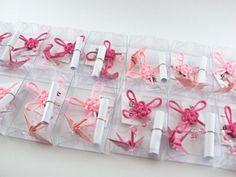 ímã decorativo || tsuru e nó chinês * baby - Sakura Origami & Acessórios