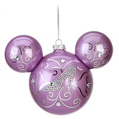 cinderella icon mickey ornament this would be cute on my christmas tree - Purple Christmas Decorations