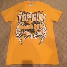 Top Gun Large Coed Worlds 2014 Cheer Tee TGLC tshirt from the year they won their 5th globe really love this shirt so the price is not negotiable Tops Tees - Short Sleeve