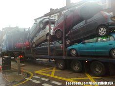 Car Transportation in practice : ) Transportation, Trucks, Train, London, Vehicles, Car, Automobile, Truck, Strollers