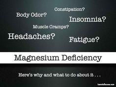 10 Magnesium Deficiency Symptoms
