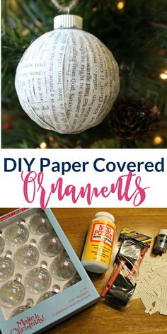 DIY Paper Covered Ornament make great Christmas Decorations