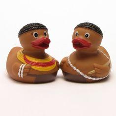 #bebe Pato de Goma africanos Set