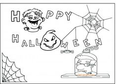Printable happy halloween party invitations mussolini van houten coloring pages for kids.free online halloween party invitation for kids.Printable #halloween the simpsons mussolini van houten Treehouse of Horror party invitations.halloween activities work