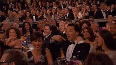 Pin for Later: Relive the Best Moments From the Golden Globes And Benedict Cumberbatch Was THRILLED