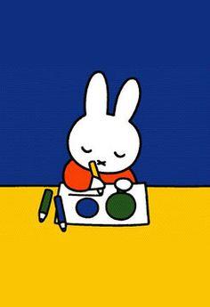 Miffy by Dick Bruna. Museum in Utrecht. Children's Book Illustration, Graphic Design Illustration, Book Illustrations, Book Cover Design, Book Design, Rabbit Drawing, Miffy, Ipad, Childrens Books