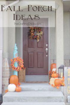 fall decor ideas for the porch outdoor spaces Fall Porch Ideas for Small Porches Thanksgiving Crafts, Thanksgiving Decorations, Fall Crafts, Holiday Crafts, Holiday Fun, Diy Crafts, Harvest Decorations, House Decorations, Design Crafts